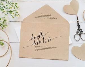 calligraphy envelope printable envelope template wedding With printing wedding invitations envelopes at home