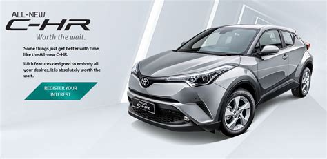 toyota homepage toyota c hr appears on toyota malaysia website 1 8l cvt