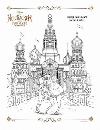 Cascanueces Colorear Reinos Disney Cuatro Dibujos Gratis