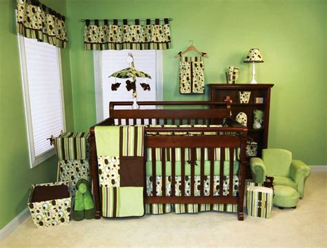 baby boy room paint ideas in green and brown colors ideas