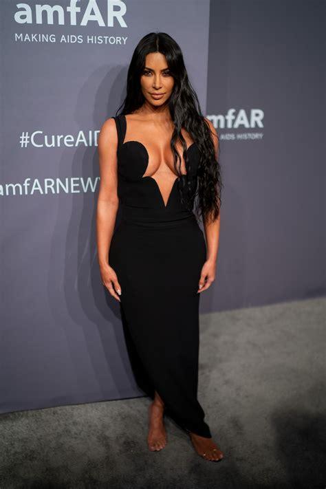 Kim Narrowly Avoided a Wardrobe Malfunction in Her Sexy ...