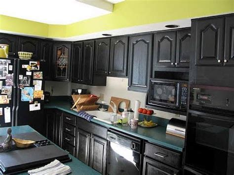 black and green kitchen ideas black kitchen cabinets black gloss kitchen cabinets ikea 7833