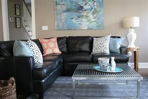 Schwarzes Sofa Dekorieren Einrichten Und Wohnen Mit Schwarz Living