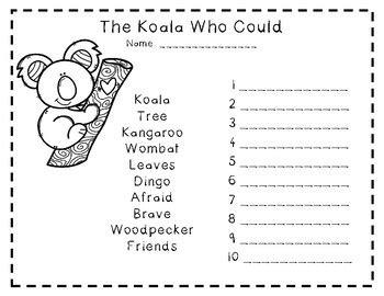 koala   book activities  emkens creations tpt
