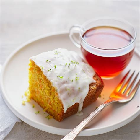 tea cakes carrot ginger tea cake with lime glaze recipe myrecipes
