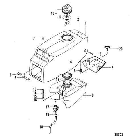 Mercury Marine Top Cowl Fuel Tank Parts
