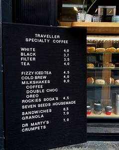 how to start a coffee shop including template letter With cafe letter board