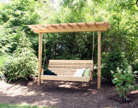 25 best ideas about wooden swings on garden