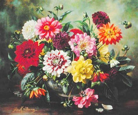 cuadros modernos pinturas  dibujos flores realismo oleo sobre lienzo albert williams