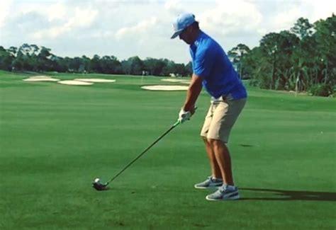 left handed golf swing koepka s left handed golf swing is staggeringly