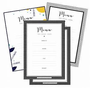 Modele De Menu A Imprimer Gratuit : les menus de no l compl ter et imprimer vie de miettes ~ Melissatoandfro.com Idées de Décoration