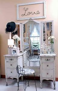 Salon Shabby Chic : 21 best images about 1940 39 s shabby chic make up vanity on ~ Zukunftsfamilie.com Idées de Décoration