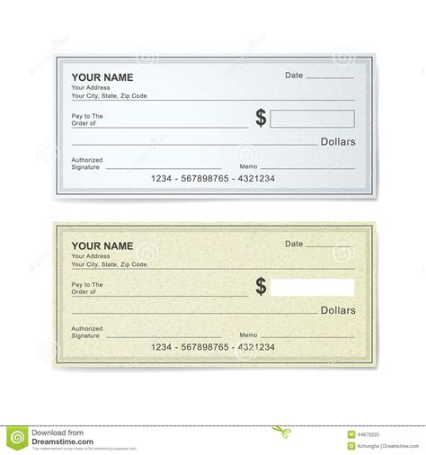 time check template blank bank check template stock vector illustration of