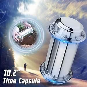 10, 2, U0026, 39, U0026, 39, Stainless, Steel, Time, Capsule, Lock, Container, Storage, Waterproof, Future, Gift, New