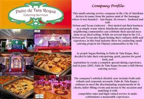 The Patio Catering by Patio De Tata Roque Home
