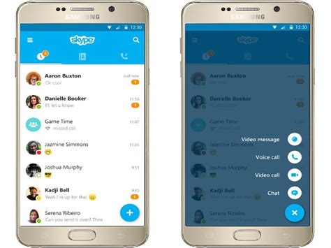 skype android skype for android s update brings a new material