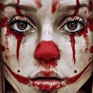 Scary clown makeup | Face Paint | Pinterest