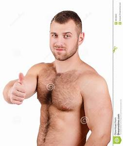 Portrait Of A Man Attractive Figure Stock Photo