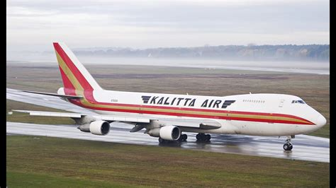 Kalitta Air - Boeing 747-200 - Take-Off at Hannover ...