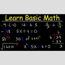 Math Videos How To Learn Basic Arithmetic Fast  Online Tutorial Lessons Youtube
