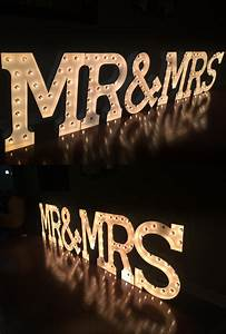 large mr mrs marquee letters mr mrs lightning With rent large marquee letters
