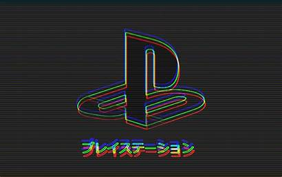 Ps Playstation Ps4 Wallpapers Aesthetic Glitch Japanese