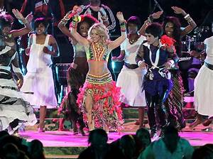 Shakira in Shakira sings Waka Waka During the World Cup ...