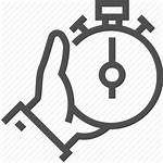 Icon Track Fast Timer Hand Note Stopwatch