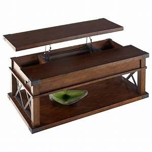Castered, Wood, U0026, Metal, Lift-top, Coffee, Table