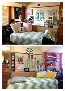Dorm Room with monograms