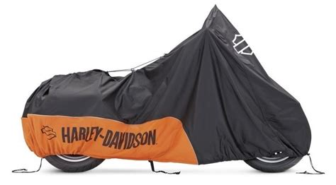Harley-davidson Indoor Motorcycle Cover Orange / Black