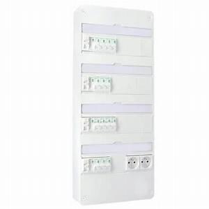Tableau Electrique 4 Rangées : tableau lectrique pr quip schneider 4 rang es 13 ~ Dailycaller-alerts.com Idées de Décoration
