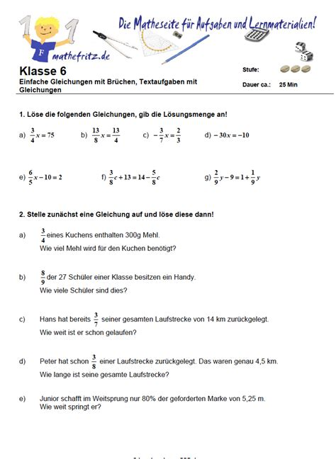 arbeitsblatt excel klasse  uebungen mathe klasse