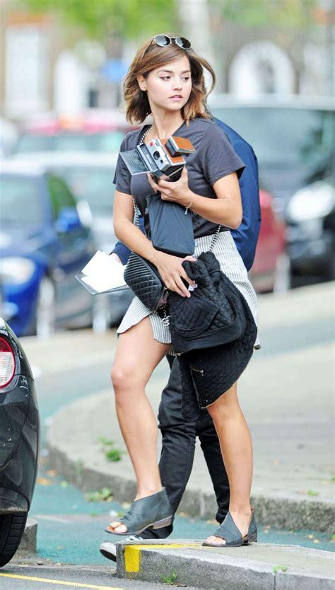 jenna louise coleman  mini skirt  gotceleb