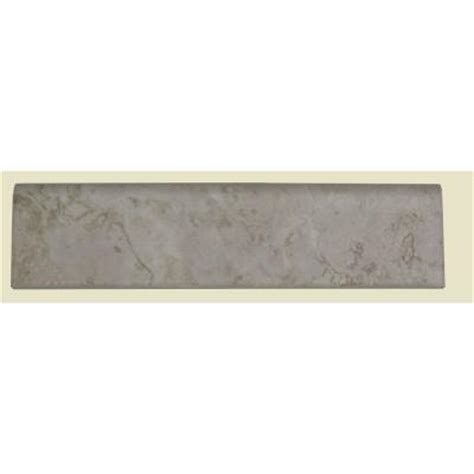 Home Depot Wall Tile Trim by Daltile Brancacci Ivory 3 In X 12 In Glazed Ceramic