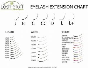 Eyelash Extension Style Chart Eyelash Extension Size Chart Lash Stuff
