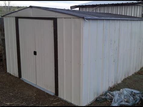 arrow shed assembly time steel shed installation how to save money and do it