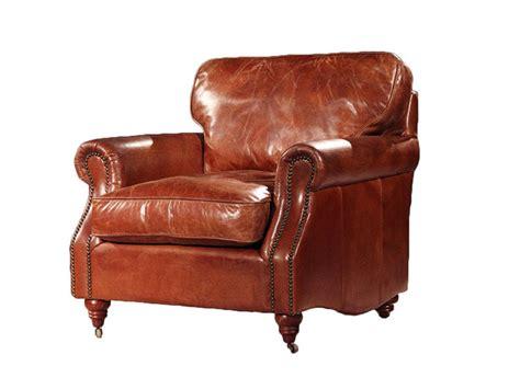 Vintage Leather American Single Armchair,wood Frame+ High