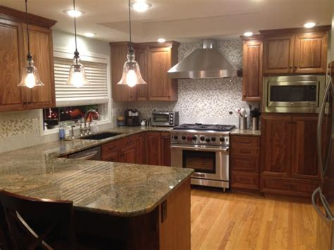 kitchen with walnut cabinets c l cabinets woodworking inc woodworking gallery 6559