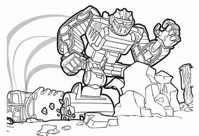 Rescue Bots Coloring Transformers Pages Printable Boulder