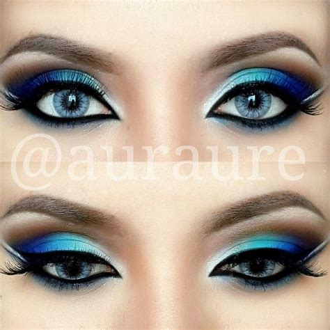 blue green silver eye makeup pictures