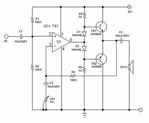 Small Audio Power Amplifier Using Op