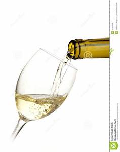 White Wine Poured Into A Glass Royalty Free Stock Images ...