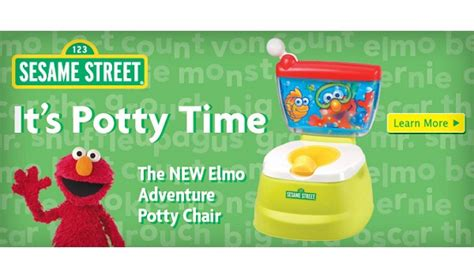 Elmo Adventure Potty Chair Canada by Sesame Elmo Adventure Potty Chair