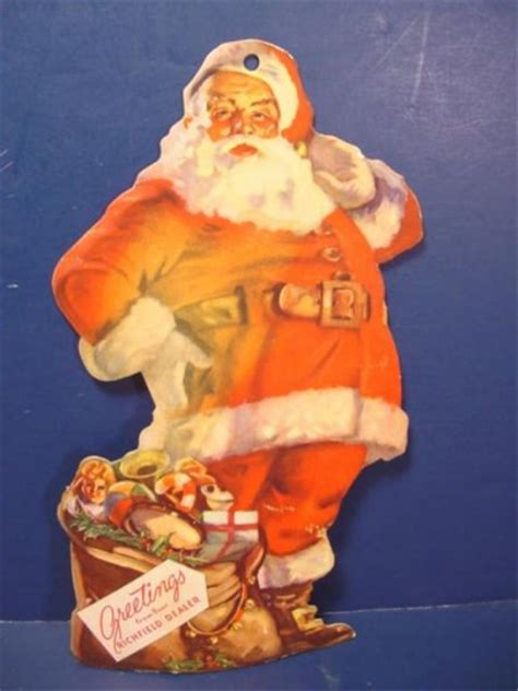 santa claus cardboard  richfield dealer