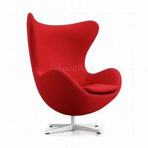 Egg Chair Arne Jacobsen : arne jacobsen style egg cashmere wool chair red replica ~ Bigdaddyawards.com Haus und Dekorationen