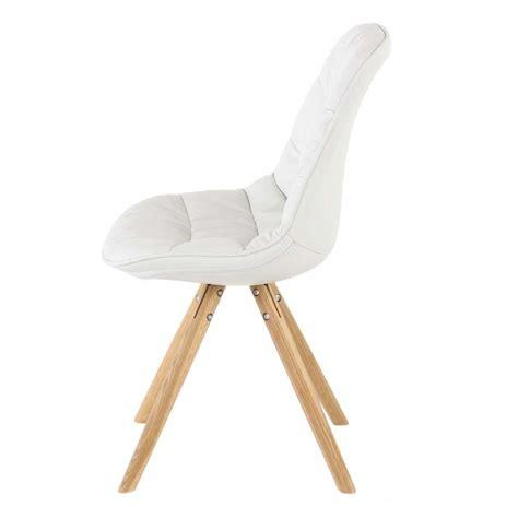 lot de 4 chaises blanches lot de 4 chaises matelassée blanche kosyform