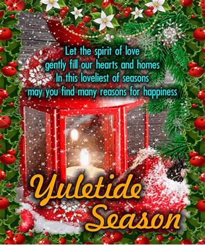 Yule Card Yuletide Season Greetings Cards Greeting