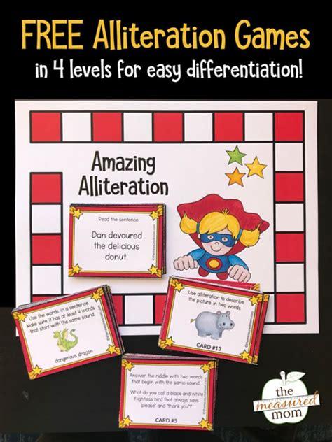 alliteration activities  kids grades