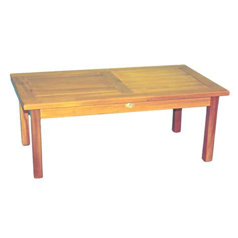 teak wood coffee table in patio side tables